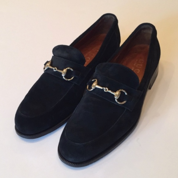 abb4697a937 Gucci Other - GUCCI Mens Suede Silver Horsebit Loafers